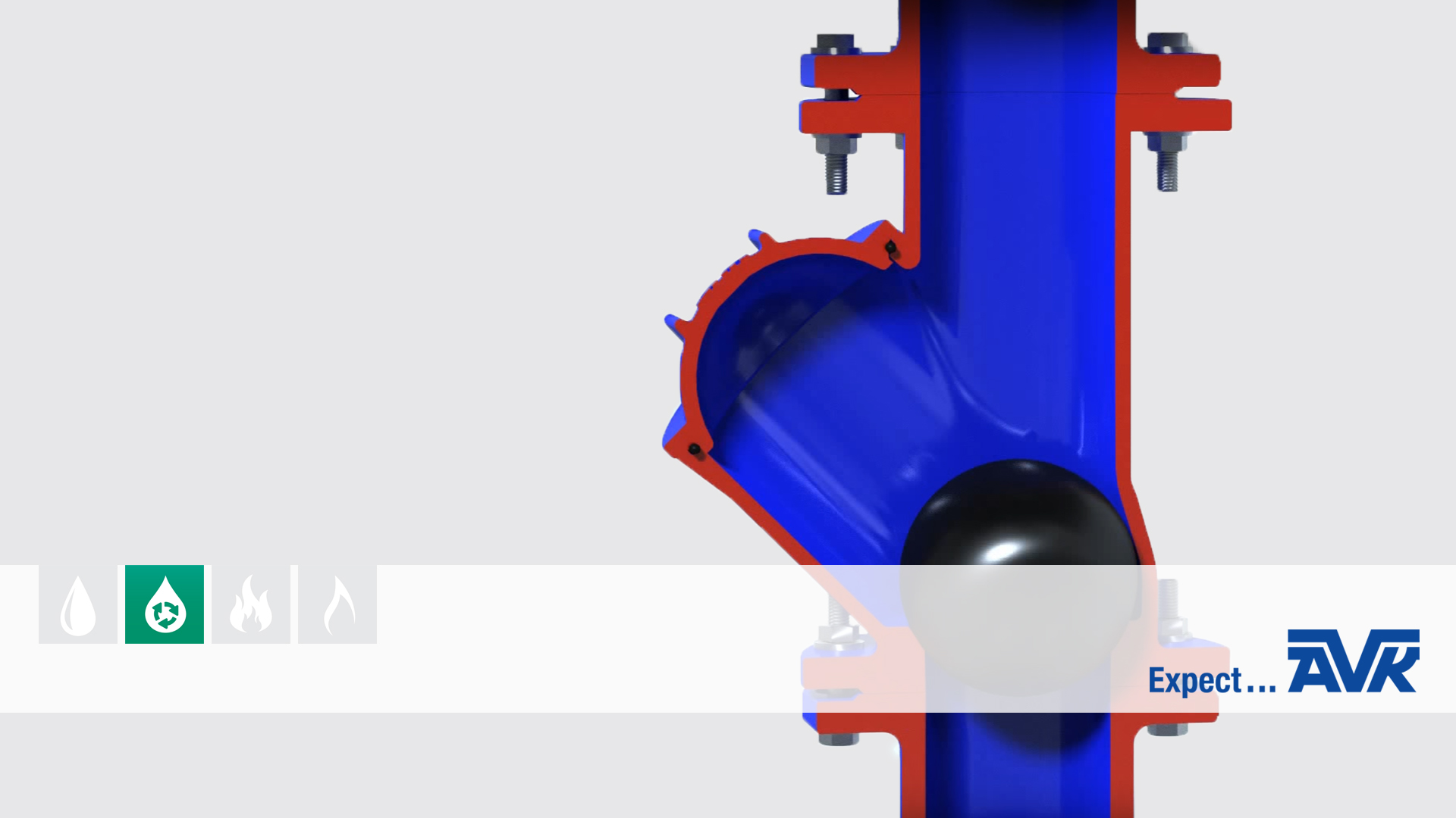 Video animation showing the installation and features of the ball check valve series 53